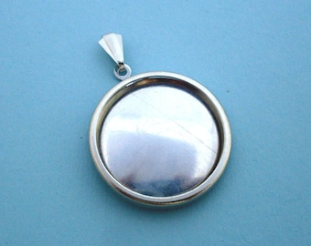 Silver Round Pendant Setting Frame Mounting 137