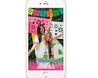 Snapchat Geofilter - Mexican Party - Snapchat Party - 30th birthday - On demand Geofilter - Mexican Birthday - Cinco de Mayo - Custom