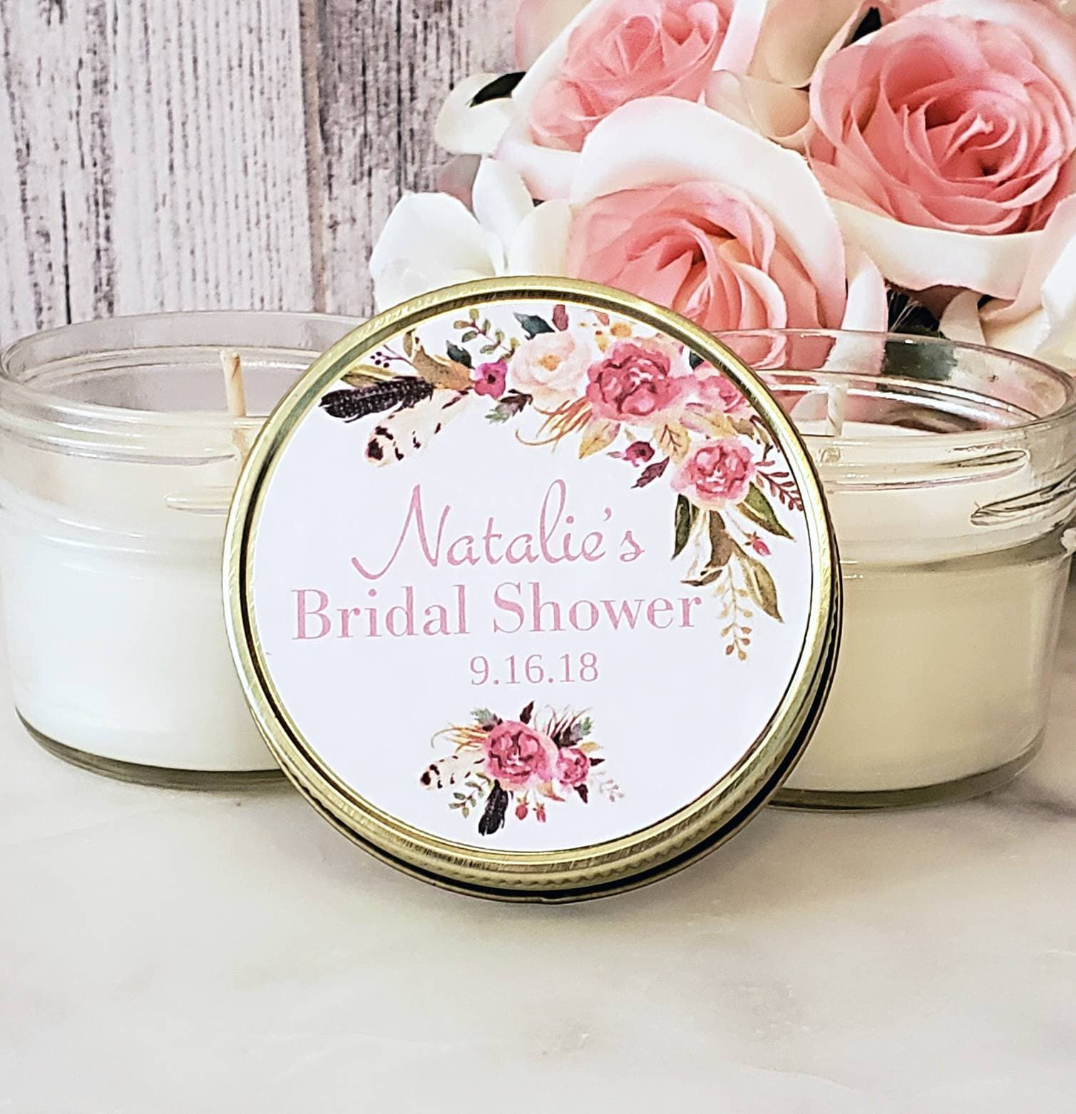 Blush Bridal Shower Favors - Bridal Shower Candle Favors - Blush ...