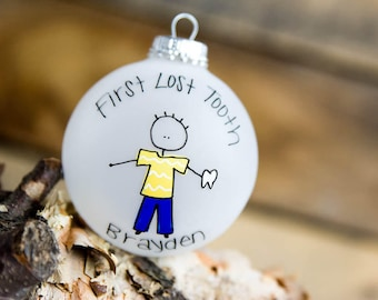 First Lost Tooth Christmas Ornament - Personalized for Free