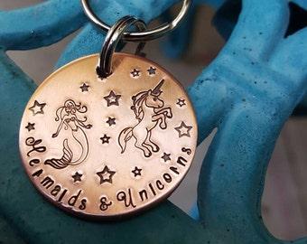 Mermaids and Unicorns, For the love of the Sea,  Mermaid lover, Unicorn lover, BFF gift, Mermaid gift, Whimsical gift, I love mermaids
