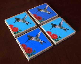 Hummingbird Magnets (set of 4)
