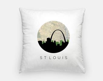 St Louis pillow | St Louis Skyline Map Decor | Missouri pillow | St Louis home decor | throw pillow | city skyline pillow