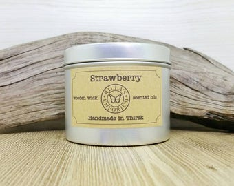 Strawberry - Wood Wick Travel Candle