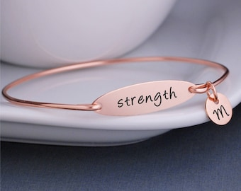 Strength Bracelet, Inspirational Bracelet, Gift for Friend, Cancer Diagnosis, Addiction Recovery, Mental Health, Divorce Gift
