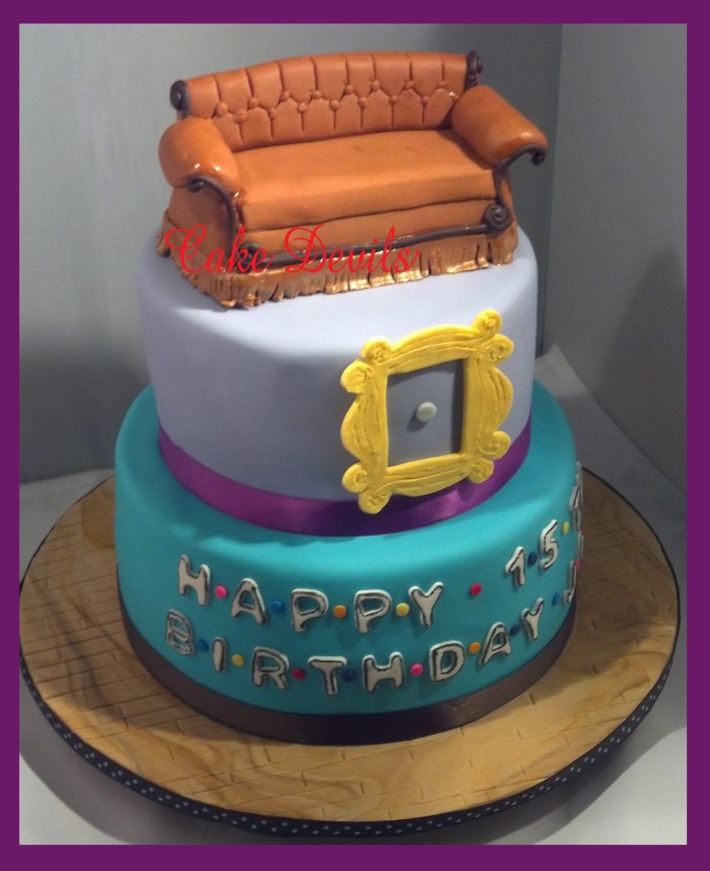 Friends Couch Cake Topper Kit Fondant Handmade Edible