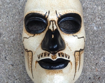 Tribal skull one of a kind latex full face tribe mask for LARP, costume, cosplay