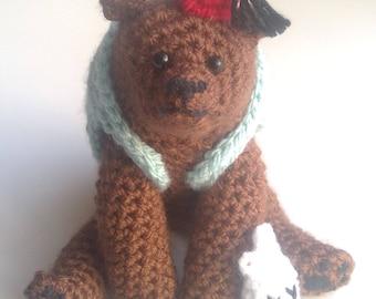 crochet bear / crochet animal / amigurumi / bear toy / teddy bear / stuffed toy