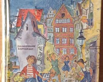 Rare German childrens book Die Zitronenkinder aus der Haifischgasse by Ille Otter 1957, first edition.