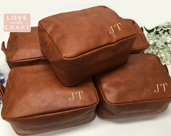 Groomsmen Gift Groom Proposal Men's Shaving Bag Toiletry Dopp Kit Monogrammed Travel Case Best Man Dad Wedding 1 2 3 4 5 6 7 8 9 10