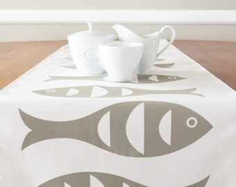 Exceptionnel Fish Table Runner, Cream Table Runner, Blue Table Runner, Beach Table Runner ,