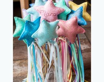 CUSTOM Disney Princess Star Wand - Fairy Wand - Princess Wand - Handmade - Custom Wands - Party Favors - Pretend Play - Stars - Wand