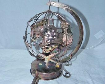 "Copper Globe Music Box - Plays ""It's a Small World"""