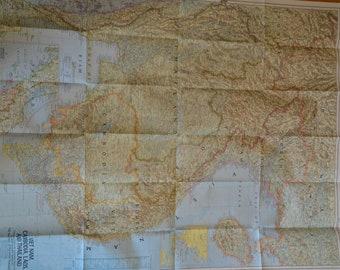 Authentic 1967 Map of Viet Nam, Cambodia, Laos and Thailand