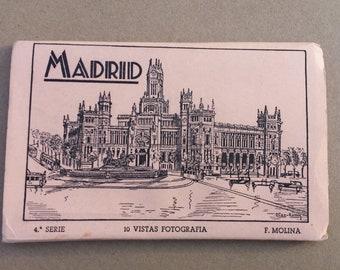 Madrid, Spain, 10 Real Photo Postcards, F. Molina , Madrid Souvenir Postcard Booklet