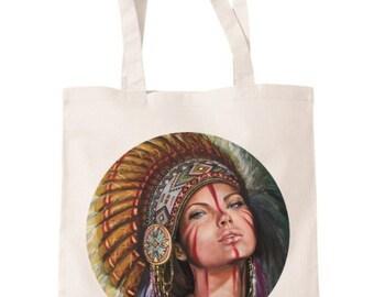 Tote bag/Shopper bag. Illustration and paintings designed by Marisa Jimenez Artist