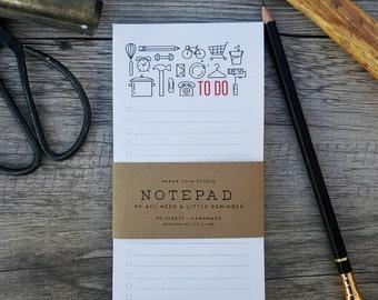 To Do List Notepad - Handmade
