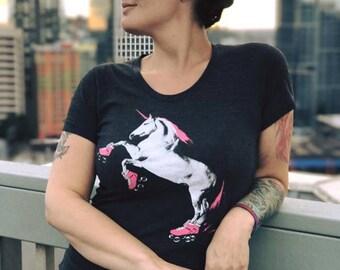Unicorn Shirt: Roller Skating Shirt, Funny Unicorn Shirt, Gift for Her, Roller Derby Gift, Roller Derby Shirt