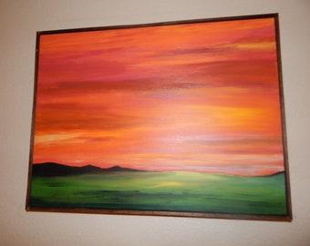 Landscape Painting - Sunset