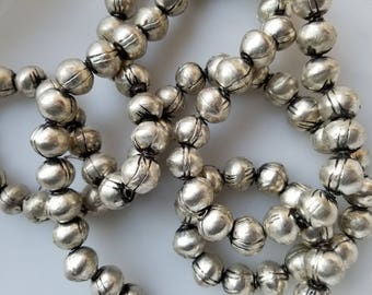 10 Ethiopian beads with designs, Ethiopian beads, Silver beads, metal beads, silver spacers