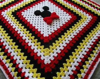 Disney Baby Blanket, Baby Shower Gift, Mickey Mouse, Handmade Newborn Gift, Stroller Blanket, Throw Blanket, Disney Blanket, Shower Gift