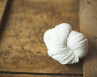 Newborn Wrap - Baby Wrap - Stretch knit wrap - Photography Prop - MILK - Almost White - Plush Weave Knit Wrap- the CALLAWAY line