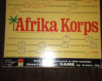 Early 1960's afrika korps wprld war 2 board game.