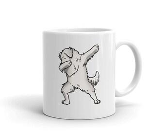 Great Pyrenees Dabbing Ceramic Coffee Mug, Funny Dog Dab Gift