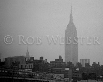 The Empire State Building, New York City, Black and White 8x10 Fine Art Photo Print