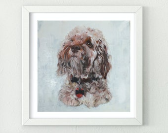 labradoodle art, labradoodle painting, labradoodle wall art, labradoodle, labradoodle gift.