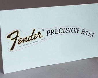 Fender 70's PB Precision Bass Guitar precut water slide decal headstock for restoration