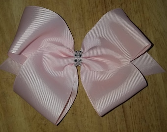 Large Light Pink Hair Bows