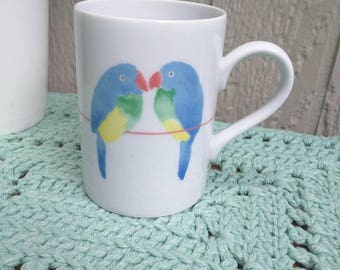 Fitz and Floyd Lovebirds Mug