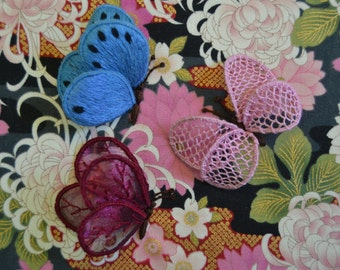 Trio of Butterflies Stumpwork Embroidery Kit