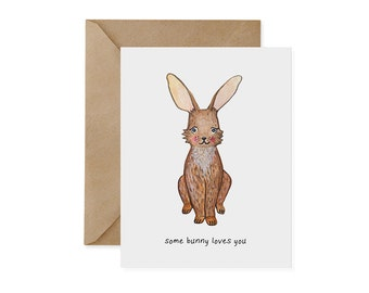 Riverine Rabbit Card / Somebunny Loves You - EcoFriendly, Rabbit, Bunny, Endangered, Recycled, Gives Back, Wildlife Conservation