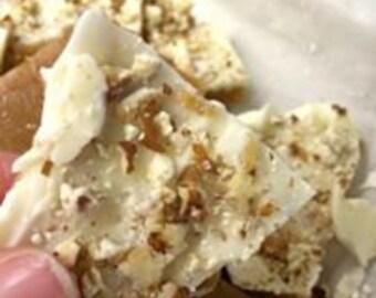 Tasty Good Toffee, White Chocolate Pecan Toffee, Handmade: Lincoln, Nebraska, English Butter Crunch Toffee Brittle