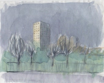 Tower Block, painting