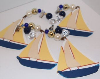 Sailboat Tablecloth Weights Set of 4