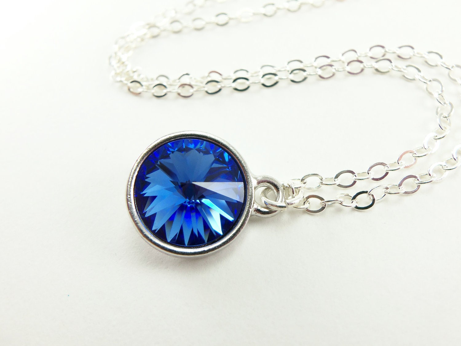 capellastyle product pendant blue snowflake crystal necklaces