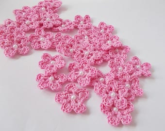 Crochet flowers appliques, Crochet appliques, Decoration knit flower, craft supplies, embellishments, scrapbooking, wedding decorations