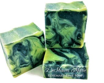 SOAP - 3.5 lb Rosemary Lime Activated Charcoal Soap Loaf, Wholesale Soap Loaves, Vegan Soap, Cold Processed Soap, Natural Soap, Christmas