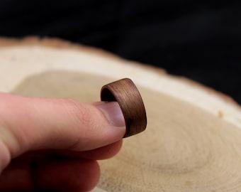 Wood ring, walnut wood ring, wood rings, wooden rings, wood ring women, wood ring for men, bentwood ring, wood ring men, bentwood ring, ring