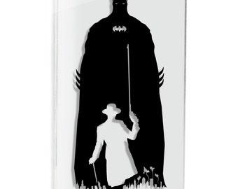 Gotham Parade Batman art Joker bruce Wayne Michael Keaton jack nicholson Tim Burton silhouette art paper cut art FRAMED