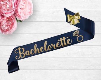 Bachelorette Sash, Custom Bridal Sash, Personalized Sash, Bridal Shower Sash, Satin Bride Sash, Bridal Sash, Glitter Sash, Bride Sash