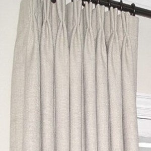 9 Colors Linen Pinch Pleated Drapes, Pinch Pleated Curtains, Pleated Linen  Draperies, Fully
