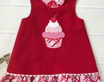 Girls Cupcake Jumper Dress