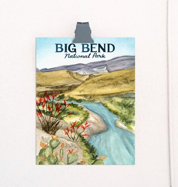 Big Bend, Texas National Parks Travel Poster *OLD*