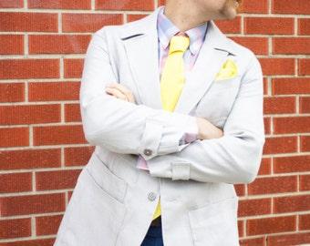Edwardian Linen Jacket---Unstructured Blazer---Editions36