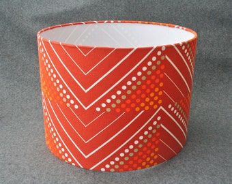 Handmade lampshade using vintage 1960's 'Montane' fabric by Evelyn Redgrave for Heals
