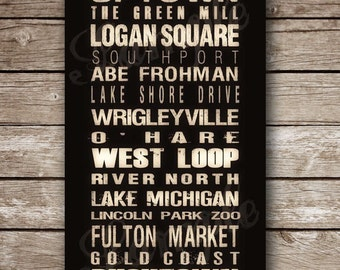 Custom Chicago Destination Poster in Printable File